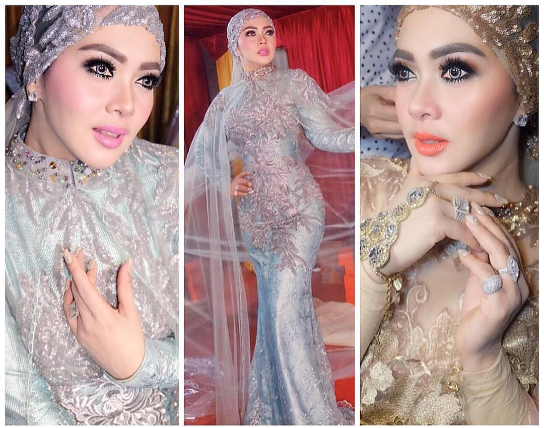 Model Baju Lebaran Syahrini 2017 Terbaru Elegan Dan Glamour