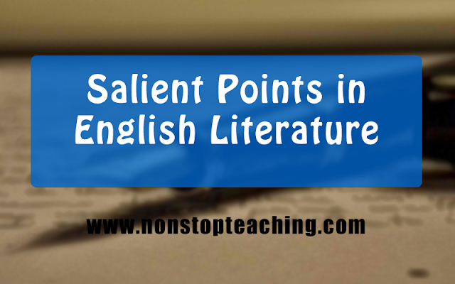 Salient Points in English Literature