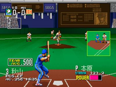街機-日本職棒(關鍵打者)+作弊碼金手指,動作流暢的街頭電動玩具棒球運動遊戲!