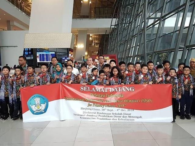 23 Murid SD Indonesia Raih Medali di IMSO 2018