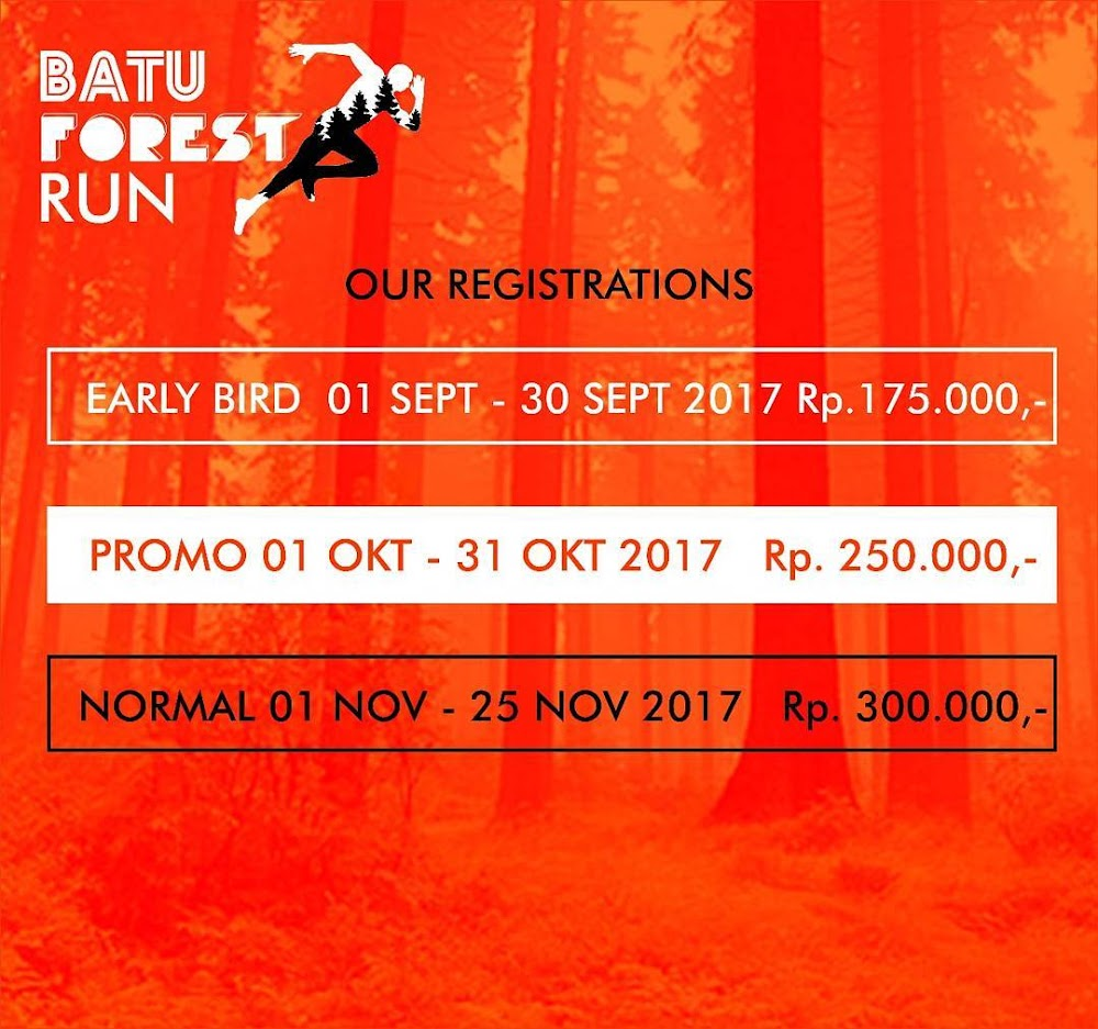 tiket Batu Forest Run • 2017