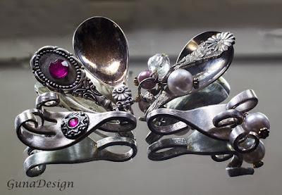 gunadesign guna andersone vintage spoon fork pendants
