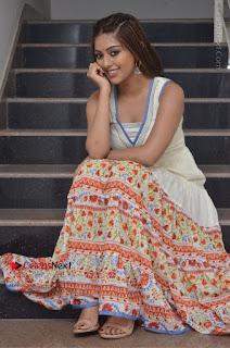 Telugu Actress Anu Emmanuel New Stills in Beautiful White Long Dress  0064.JPG