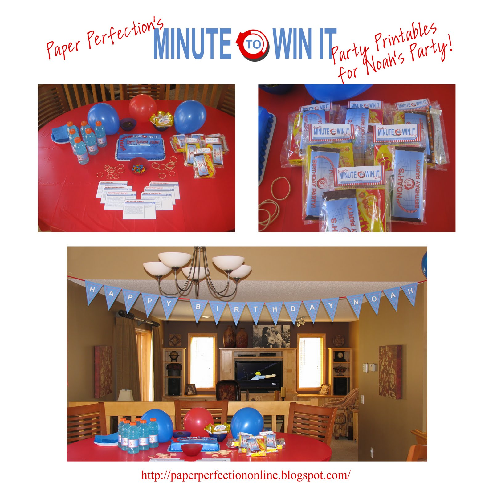 Paper Perfection Minute To Win It Party Decorations Favors