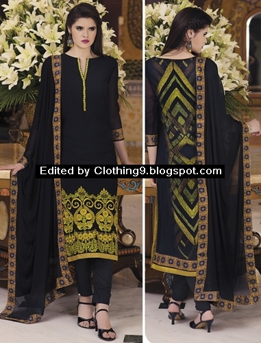 pakistani salwar suits fashion with Cigarette Pants