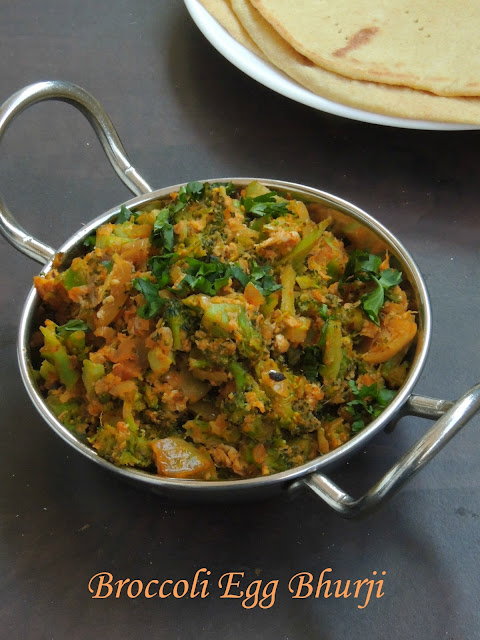 Broccoli Egg bhurji, Broccoli Mutta Bhurji