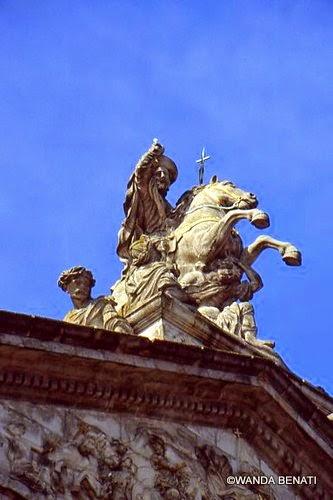 "Santiago del Compostella, la statua di San Giacomo ""Matamoros"""