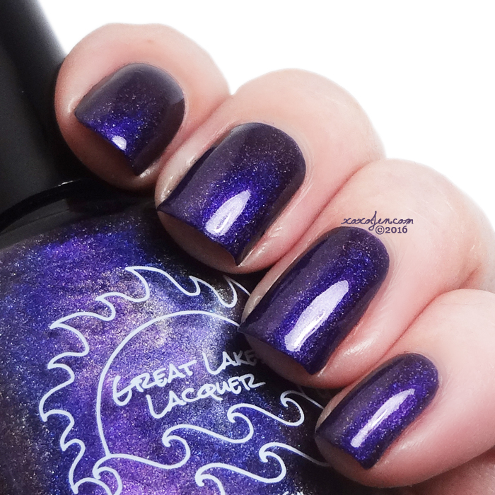 xoxoJen's swatch of Great Lakes Lacquer M-O-O-N, That Spells Purple