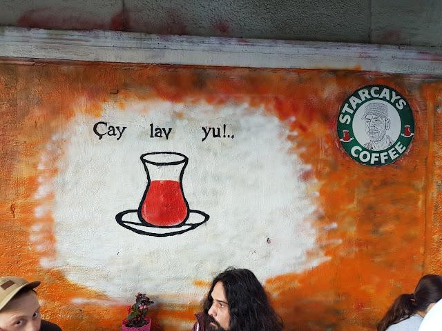 Murales té a Karakoy-Istanbul