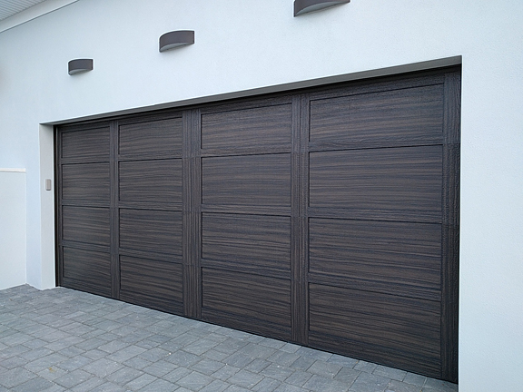 Shaker style garage door painted like wood everything i for Paint garage door to look like wood