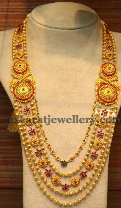 Rose Floral Clasps Chandra Haar Jewellery Designs