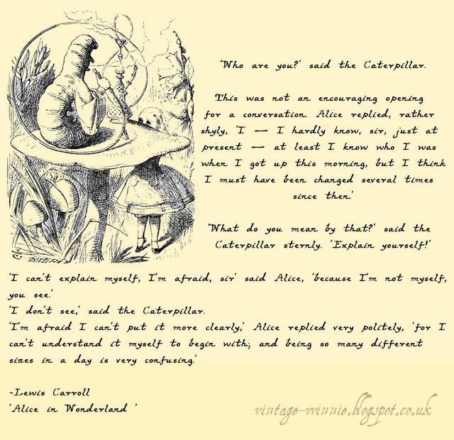 Alice In Wonderland Sayings: Alice In Wonderland Caterpillar Quotes. QuotesGram