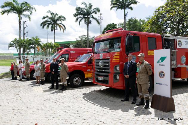 Investimento: Klabin entrega cinco viaturas oficiais de Bombeiros ao Estado de Pernambuco