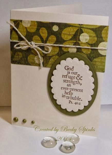 ODBD Customer Card of the Day by Becky Spinks, Keep My Lamp Burning by Our Daily Bread designs