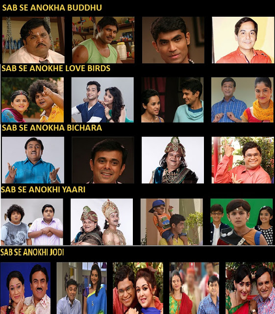 List of Award Category & Nominee for Sab Ke Anokhe Awards 2015