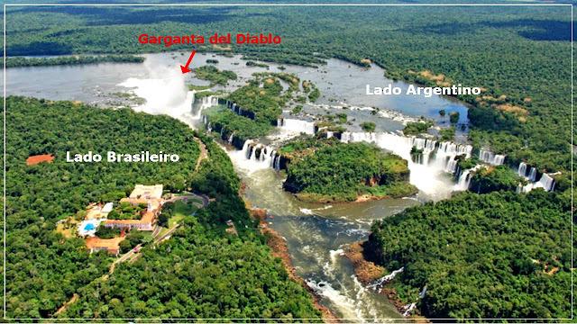 Cataratas do iguaçu, lado brasileiro e argentino