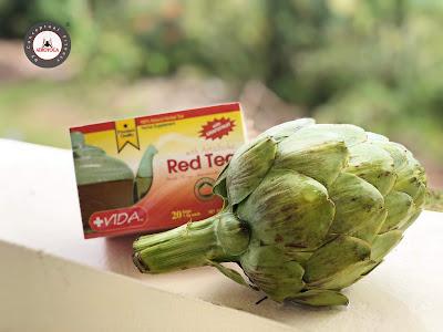 receta te alcachofa te rojo