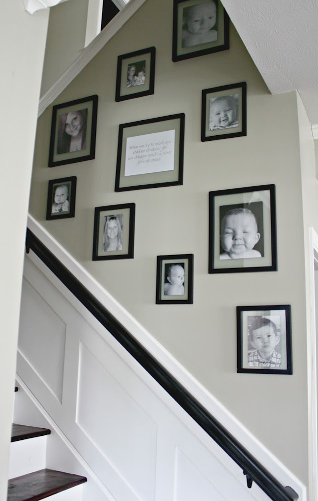 photo wall on staircase