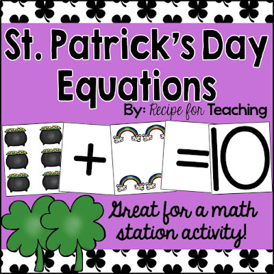 https://www.teacherspayteachers.com/Product/St-Patricks-Day-Equations-2370391