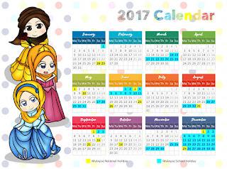 cute muslimah disney calendar