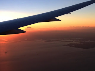 Mt. Fuji from plane