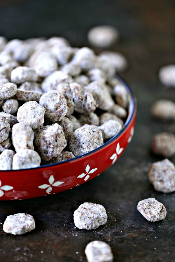 Chocolate Peanut Butter Puppy Chow from Cravings of a Lunatic