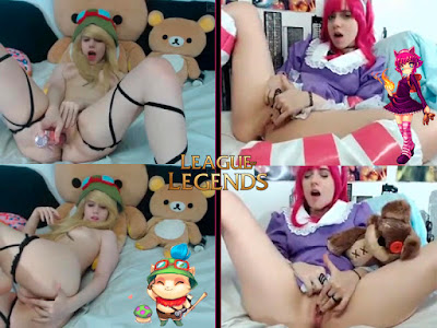 cosplay league of legends - annie y teemo