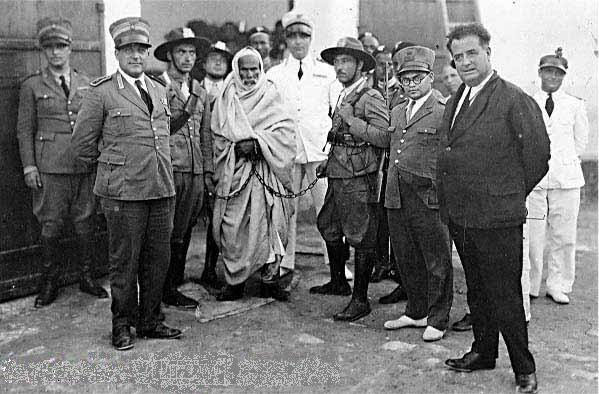 Omar Mukhtar arrested by Italian officials