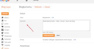 Trik Cara menyembunyikan deskripsi dan judul pada blogger