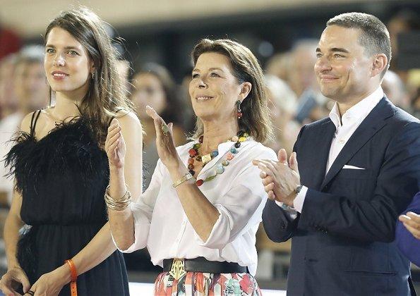 Princess Caroline, Beatrice Borromeo, Stefano Ercole Carlo, Matilde Borromeo, Princess Alexandra and Raphaël Casiraghi-Elmaleh