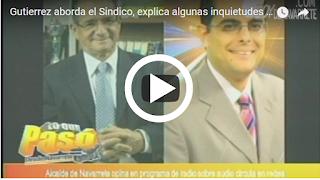 José Gutierrez aborda el Sindico de Navarrete Tito Bueno, explica algunas inquietudes sobre el Famoso audio del Cheque de 2,000 mil pesos
