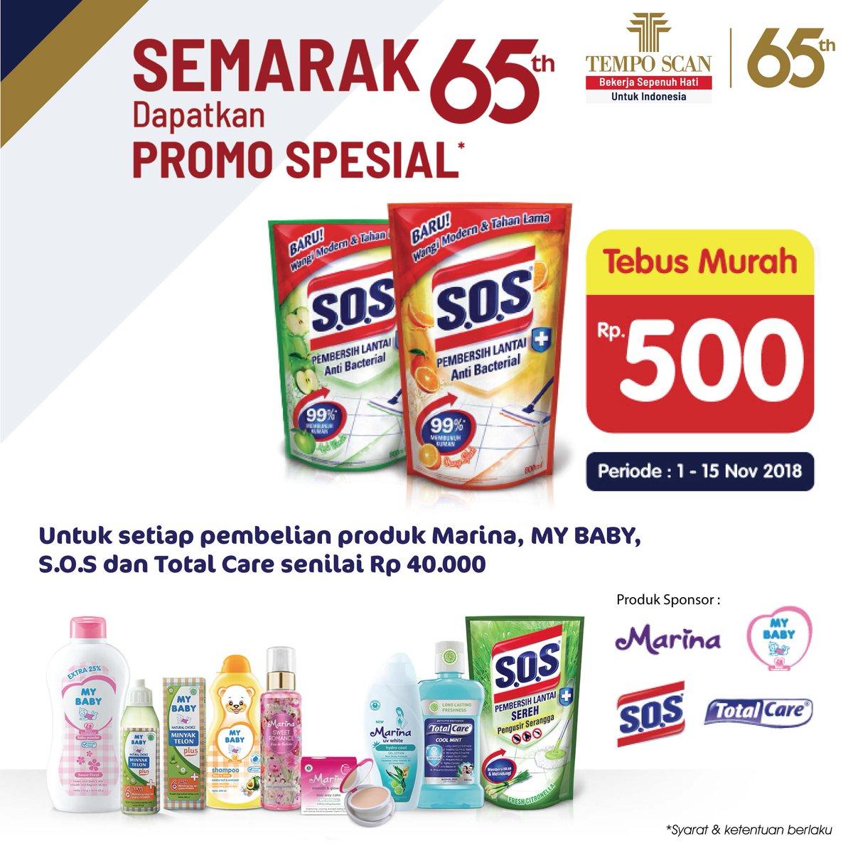 Alfamidi - Promo Semarak 65th Temp Scan Dapatkan Promo Special (s.d 15 Nov 2018)