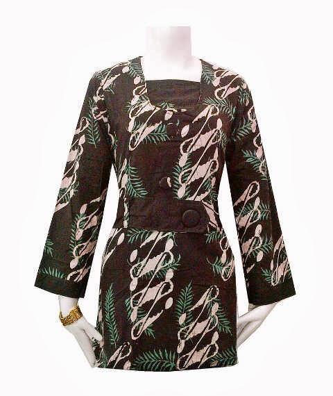 Baju Batik Lengan Panjang Vector: Baju Batik Wanita Lengan Panjang Muslim