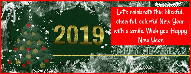 Happy New Year 2019 cover google plus