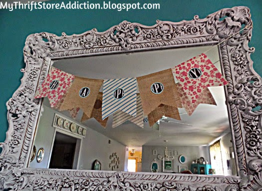 Gorgeous upcycled mirror