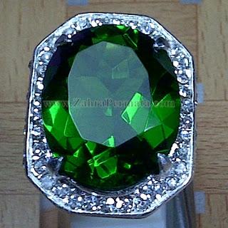Cincin Batu Permata Green Tektite - ZP 949