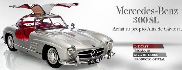 colección del Mercedes Benz 300 SL a escala del diario La Nación
