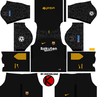 UEFA Champions League 2017-18 Barcelona Kits