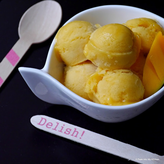 Peek into My Kitchen: Eggless Mango Gelato with Aquafaba Whipped ...
