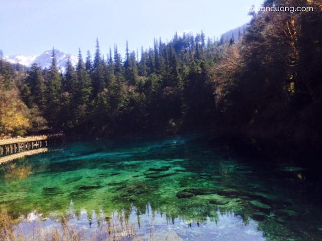 Cửu Trại Câu đẹp nhất vào mùa thu.