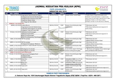 jadwal pspp yogyakarta (jogja) angkatan juli 2019