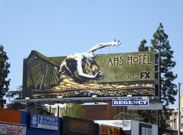 American Horror Story Hotel extension billboard
