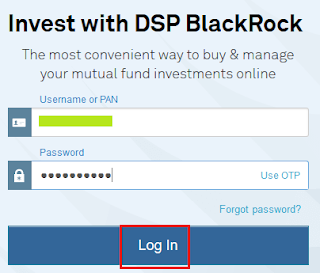 DSP BR MF- Login Page