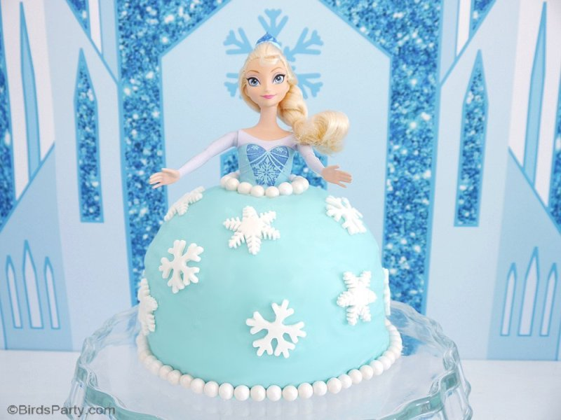Awesome How To Make An Elsa Doll Birthday Cake Party Ideas Party Funny Birthday Cards Online Overcheapnameinfo