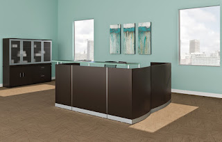 Medina Reception Desk - Mocha Finish