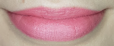 Avon True Colour Delicate Matte Lipstick lip swatch in Pink Blush