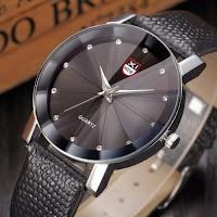Men Luxury Stainless Steel Quartz Military Sport Leather Analog Date Wrist Watch