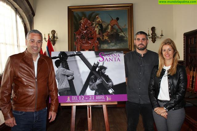 Una fotografía de Daniel Roca ilustra el cartel anunciador de la Semana Santa de Santa Cruz de La Palma 2019