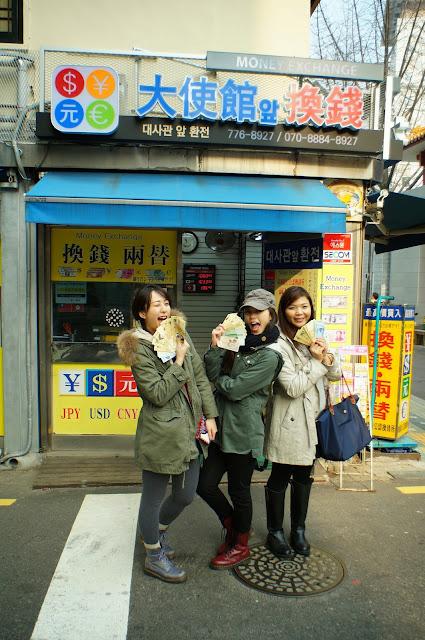 蟬鳴紀異。: 首爾 2013 (三) 明洞 大使館換錢 + Isaac 多士早餐