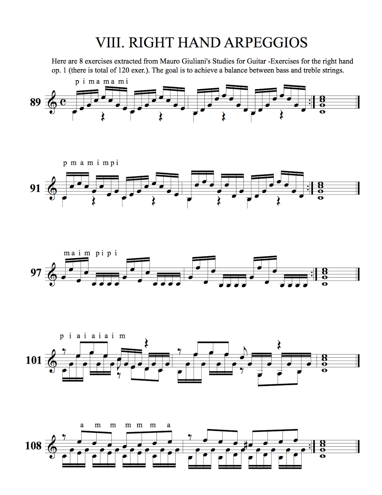 Arpeggio Study (Right Hand)